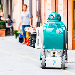 Dustbot Networked and Cooperating Robots for Urban Hygiene