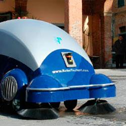 Robosweep Robot per lo spazzamento automatico di aree urbane o industriali